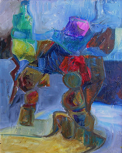 expressionistisch abstract schilderij